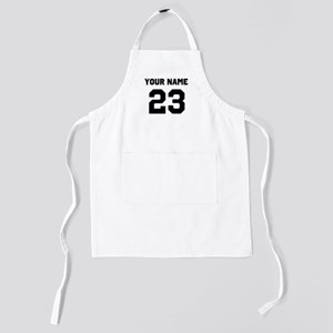 Custom Sports Jersey Number. Kids Apron