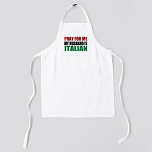 Pray For Me My Husband Is Italian Kids Apron
