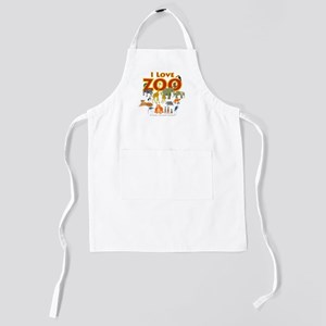 I Love Zoo Kids Apron
