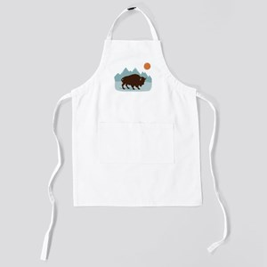 Buffalo Mountains Kids Apron