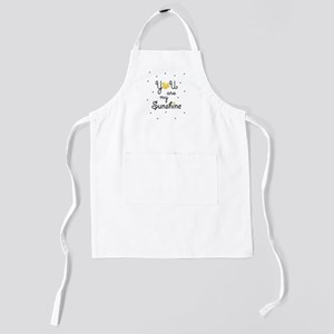 You are my sunshine - gold Kids Apron