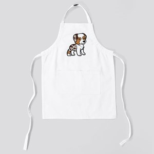 australian shepherd red merle cartoon Kids Apron
