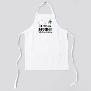 Butterfly brother with downs Kids Apron