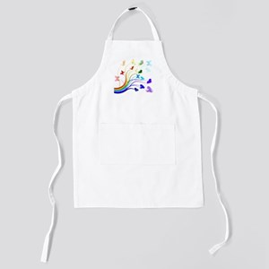 Butterflies and Rainbows Kids Apron