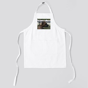 boxer brindle love with picture Kids Apron