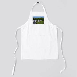 Korean Monument Soldier Statues Kids Apron