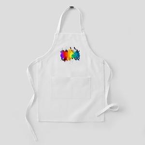 Rainbow Splatter Kids Apron