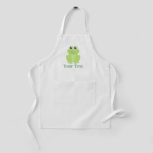 Personalizable Green Frog Kids Apron