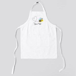 Cute Bee and Heart; honeybee; Personali Kids Apron