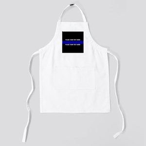 Thin blue line customized Kids Apron