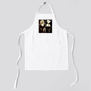 Sepia Flower Collage Kids Apron