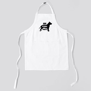 Custom Pet Pit bull Photo Kids Apron
