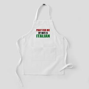 Pray Wife Italian Kids Apron