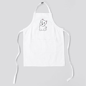 west highland white terrier Kids Apron