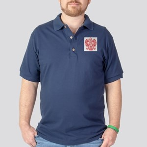 Polish Eagle Emblem Golf Shirt