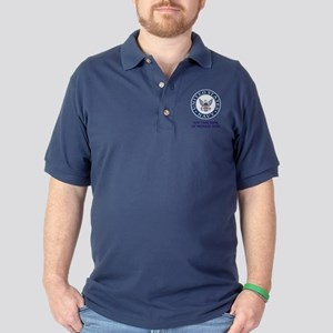 US Navy Symbol Personalized Dark Polo Shirt