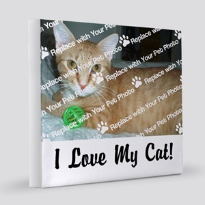 CUSTOMIZE Add Photo Love Cat 8x8 Canvas Print