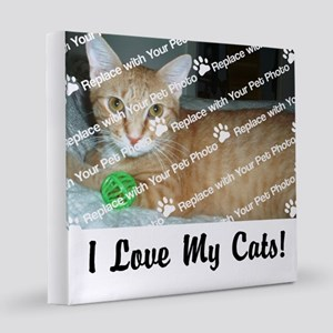 CUSTOMIZE Add Photo Love CatS 8x8 Canvas Print