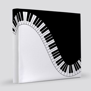 Piano Keyboard 8x8 Canvas Print