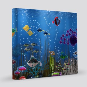 Underwater Love 8x8 Canvas Print