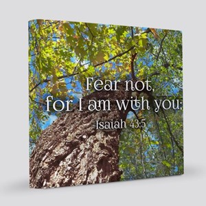 Fear Not Christian Bible Verse In 8x8 Canvas Print