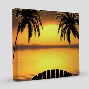 Beach Sunset 8x8 Canvas Print