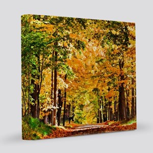 Autumn Road 8x8 Canvas Print