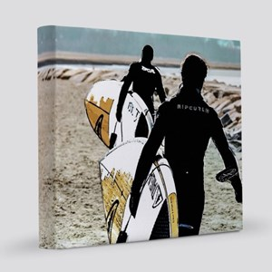 Surfers on the Move 8x8 Canvas Print