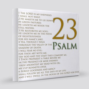 twenty third psalm 8x8 Canvas Print