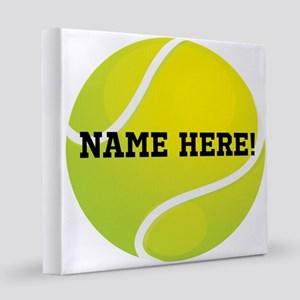 Personalized Tennis Ball 8x8 Canvas Print