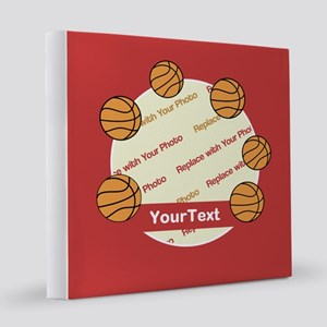 CUSTOM Photo Text Basketball 8x8 Canvas Print