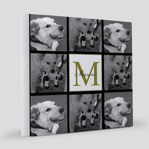 Beautiful Photo Block and Monogram 8x8 Canvas Prin