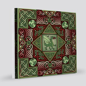 Celtic Dragon Labyrinth 8x8 Canvas Print