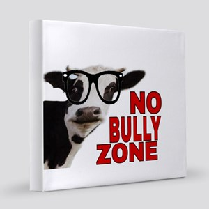 NO BULLY ZONE 8x8 Canvas Print
