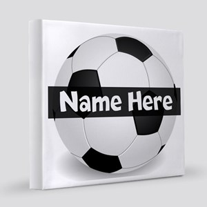 Personalized Soccer Ball 8x8 Canvas Print