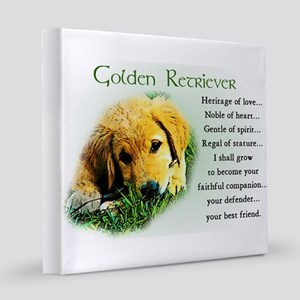 Golden Retriever Puppy 8x8 Canvas Print