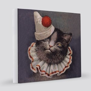 Clown Cat 8x8 Canvas Print