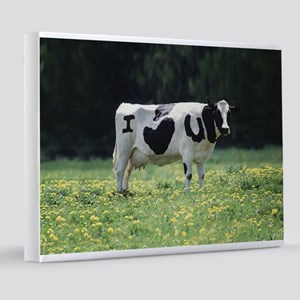 I Love You Cow 8x10 Canvas Print