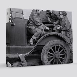 Young Lady Auto Mechanics 8x10 Canvas Print