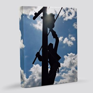 Rusty the Lineman 8x10 Canvas Print