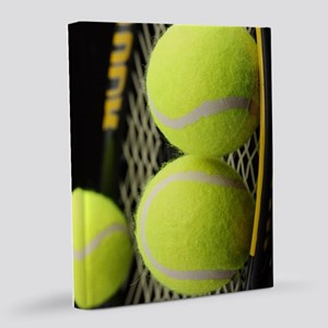 Tennis Balls And Racket 8x10 Canvas Print