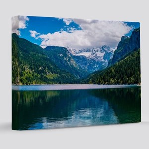 Mountain Valley Lake 8x10 Canvas Print