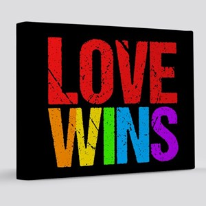 Love Wins 8x10 Canvas Print