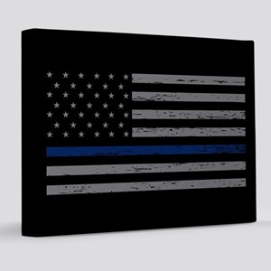 Thin Blue Line 8x10 Canvas Print