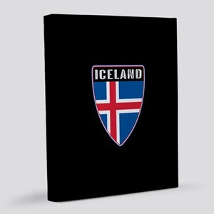 Iceland Shield 8x10 Canvas Print