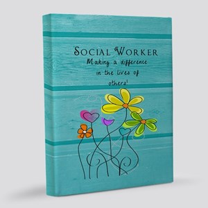 social worker 8x10 Canvas Print