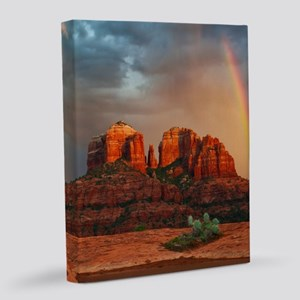 Rainbow In Grand Canyon 8x10 Canvas Print