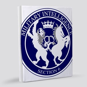 MI6 Logo Button 8x10 Canvas Print