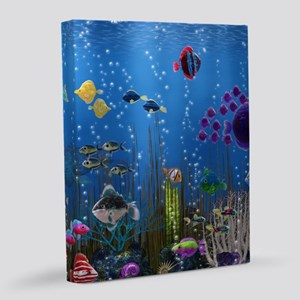 Underwater Love 8x10 Canvas Print