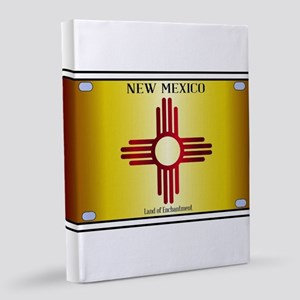 New Mexico Flag License Plate 8x10 Canvas Print